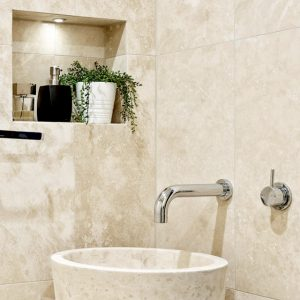 Light Travertine Honed and Filled Stone tiles