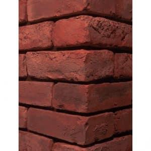 Old Used Bricks Persian Red Stone Corner Wall Cladding