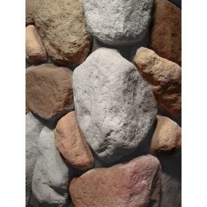 River Rock Multi Bianco Stone Corner Cladding