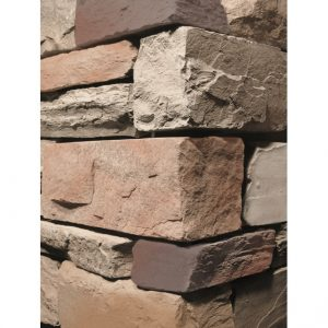 Stacked Ledgestone Cabernet Wall Cladding corner
