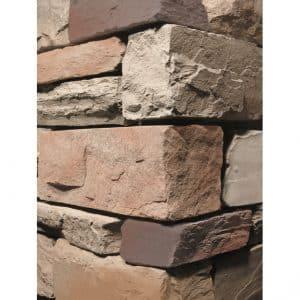 Stacked Ledgestone Cabernet Wall Cladding corner