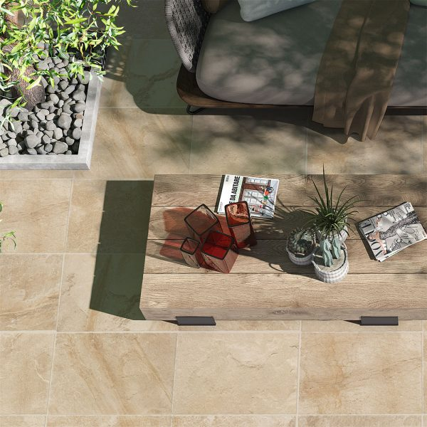 Cleft Rock Beige pavers