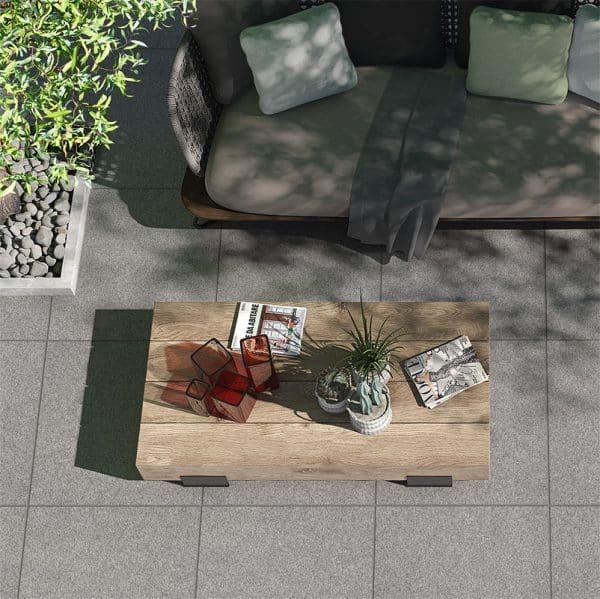 Nextone Mid Grey square pavers
