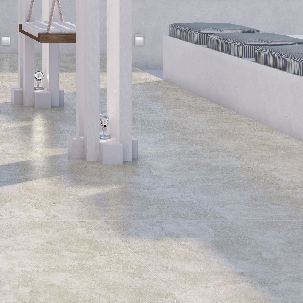 New Travertino Ivory tiles