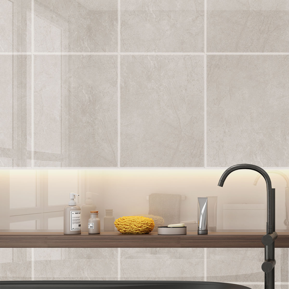 Sorrento Grey Gloss Wall tiles