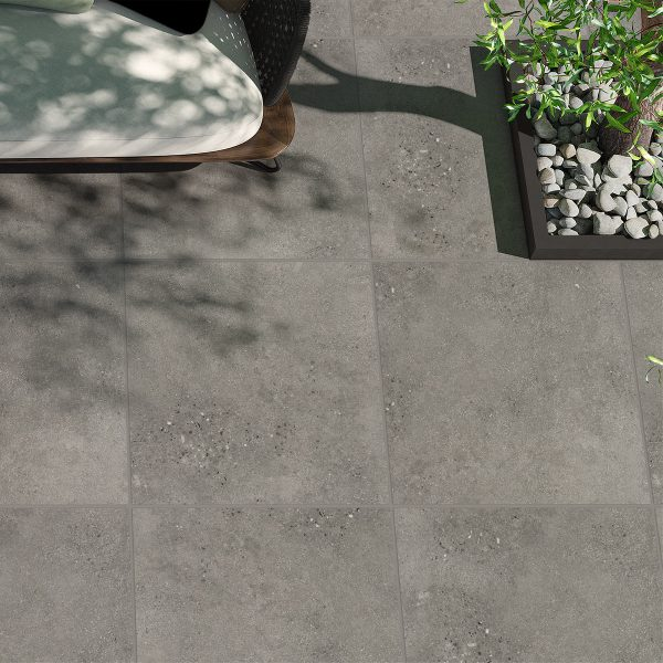 Lifestone Dark Grey External floor tiles