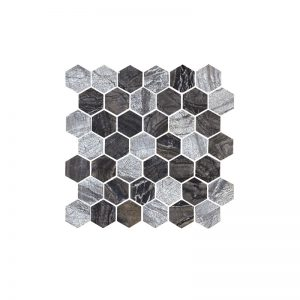 Hexagonal Bluestone Mosaic tiles