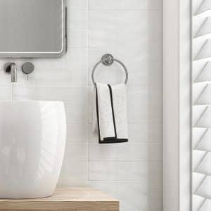 Wave White gloss wall tiles