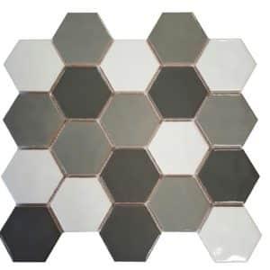 Blend Mix Gloss Handmade Hexagonals Mosaic tiles