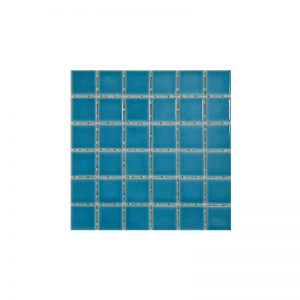 Blue Crackle Gloss Dot Mosaic tiles