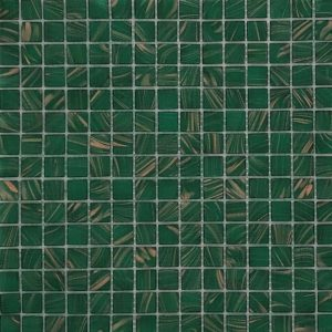 Bottle Green/Copper Mosaic Poolsafe tiles