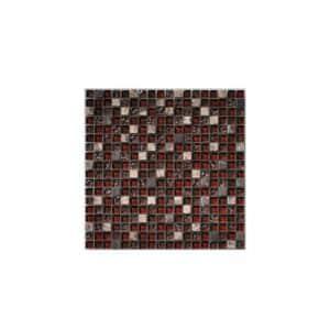 Chocolate Gemstone Mosaic tile sheet