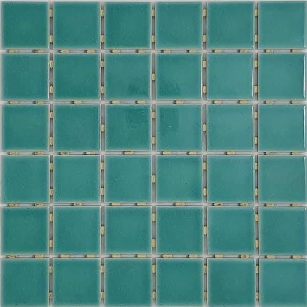 Green Crackle Dot Mounted Mosaic tiles