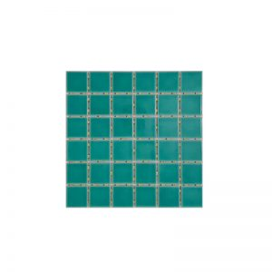 Green Crackle Dot Mounted Mosaic tiles