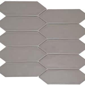 Huxley Taupe Long Hexagon mosaic tiles