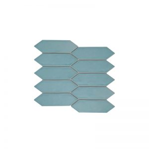 Huxley Water Long Hexagon mosaic tiles