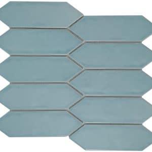 Huxley Water Long Hexagon mosaic tiles