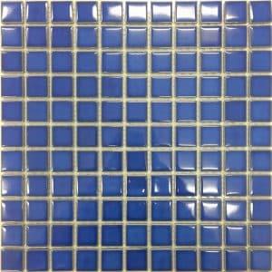 Mid Blue Gloss Mosaic tiles