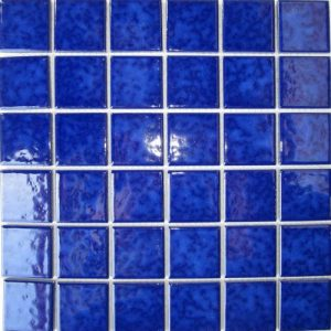 Mottle Blue Gloss Mosaic tiles