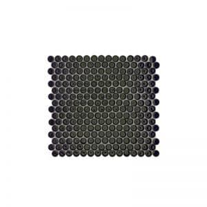 Penny Round Black Mosaic Tile sheet
