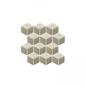 Rubix Grey and White Mosaic Tile sheet