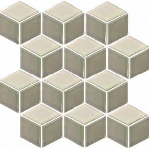Rubix Grey and White Mosaic Tile sheet