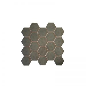 Grey Hexagonals Mosaic tile sheet