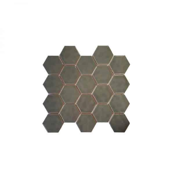 Grey Hexagonals Mosaic tile sheet