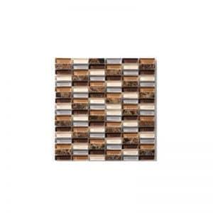Emperador Gemstone Mosaic tile sheet