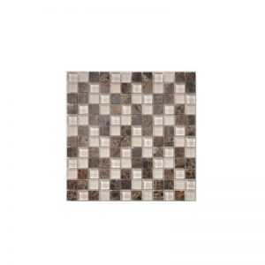Frosted Champagne Gemstone Mosaic tile sheet