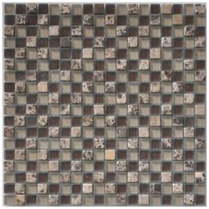 Frosted Chocolate Gemstone Mosaic tile sheet