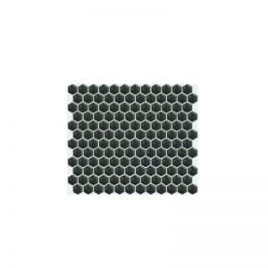Honeycomb Black Hexagonal Mosaic tile sheet