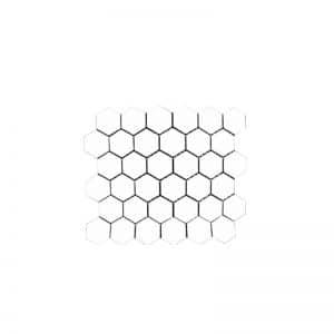 Honeycomb White Hexagonal Mosaic tile sheet