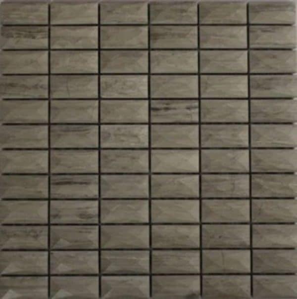 Lingh Wooden Line 3D Stone Mosaic tile sheet