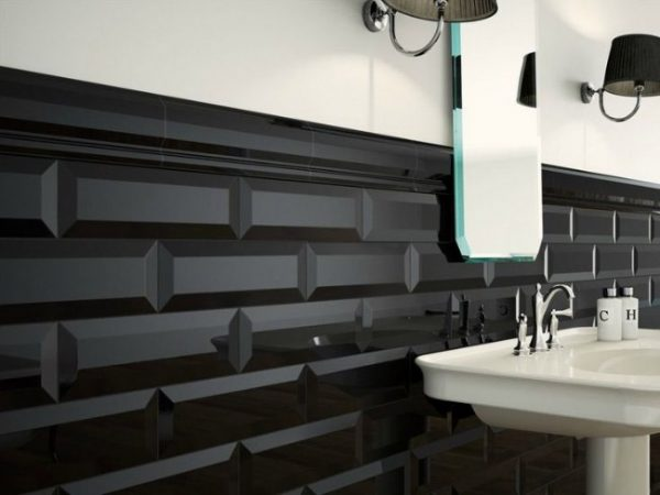 Oxford Negro Bevelled Edge Wall tiles
