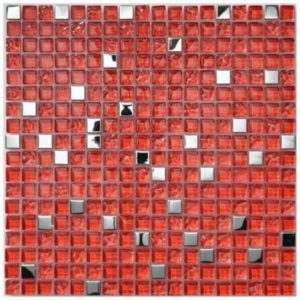 Ruby Gemstone Mosaic tile sheet