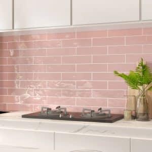Edge Pink Wave Subway tiles
