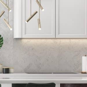 Carrara Herringbone XL Mosaic tiles