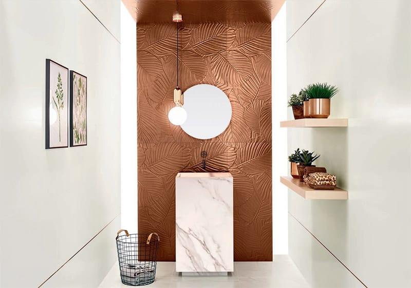 Genesis Palm Copper tiles