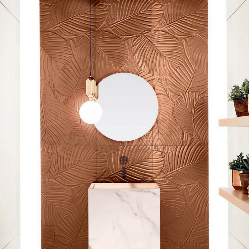 Genesis Palm Copper Matte tiles