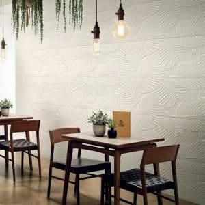Genesis Palm White Matte tiles