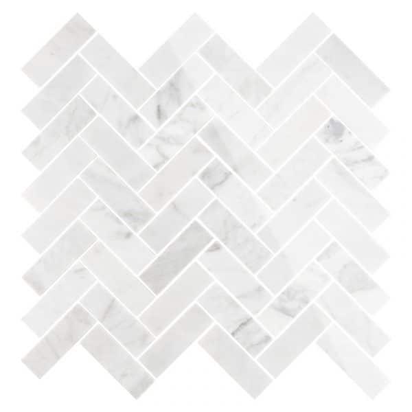 Carrara Marble Herringbone tiles