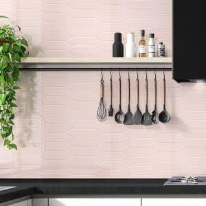 Picket Pink Mosaic tiles