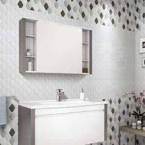 Winter Diamond Embossed White tiles