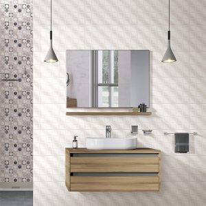 Winter Square Wave White Gloss wall tiles