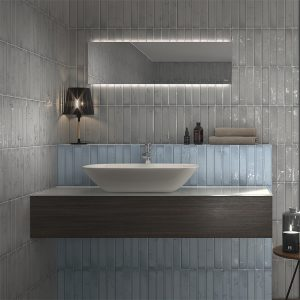 Frost Charcoal Subway tiles