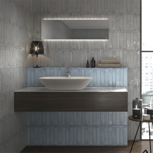 Frost Navy Blue Subway tiles