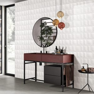 Winter Rectangle Mix White tiles