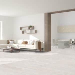 New Hamptons White timber look tiles