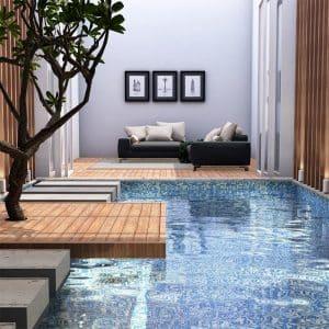 Paradise Hawaii Pool Safe Mosaic tiles